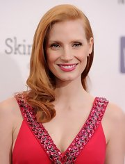 Jessica Chastain's bouncy ends looked effortlessly beautiful at the 2013 Critics' Choice Awards.