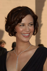 Catherine Bell's curled-out bob at the Creative Arts Emmy Awards had a vintage feel.