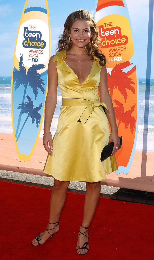 CREDIT: ©AXELLE/BAUER-GRIFFIN.2004 Teen Choice Awards - arrivals. .Universal Amphitheatre, Universal City, CA. .August 8, 2004...Maria Menounos.
