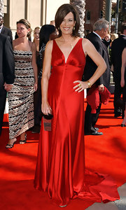 Jane Kaczmarek was a knockout in her red silk evening dress at the Emmy Creative Arts Awards.
