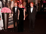 Posing with his siblings at the Bal de la Rose Charity Gala, Andrea Casiraghi looked handsome in his formal black tuxedo suit.