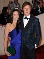 A simple black bow-tie topped off Sir Paul McCartney's formal look.