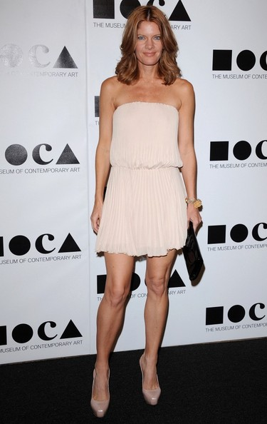 Michelle Stafford topped off her outfit with nude platform pumps.