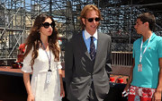 Andrea Casiraghi looked Euro-cool in his round tortoiseshell sunglasses whilst attending the 2011 Formula 1 Grand Prix in Monaco.