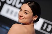 Crystal Reed chose a classic bun to pull back her dark brown strands and top off her sophisticated red carpet look.