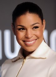 Jordin's slicked back ponytail topped off her super chic and simple red carpet look.