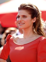 Lake Bell wore her hair in a red carpet-worthy ponytail when she attended the Emmys.