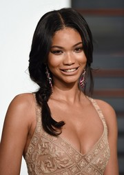 Chanel Iman attended the Vanity Fair Oscar party wearing a braid that looked like it was about to come undone.