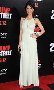 Perrey Reeves looked elegant at the '21 Jump Street' premiere in this mint keyhole dress.
