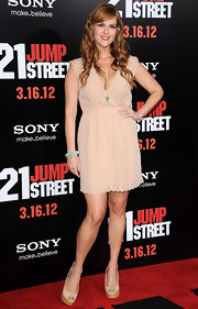 Sara Rue wore these platform peep-toe wedges to the '21 Jump Street' premiere.