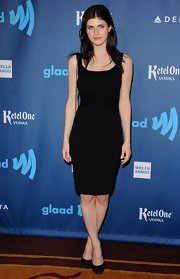 Alexandra Daddario kept her red carpet look simple and stunning in a classic LBD.