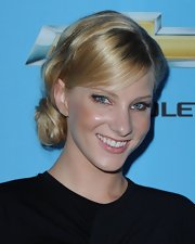 Heather showed off her sleek updo while walking the red carpet at the season premiere of 'Glee'.