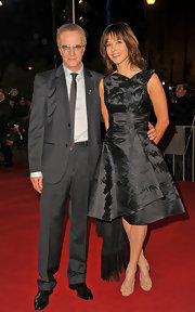 Sophie Marceau's evening dress showed off her fashion sense with flare.