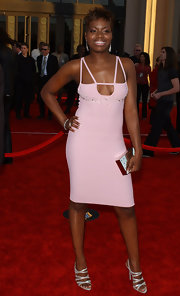 Fantasia Barrino carried a metallic hard case clutch at the AMA's.