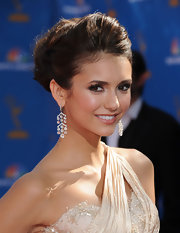 Nina Dobrev wore her hair in a chic updo for the 62nd Annual Primetime Emmy Awards.