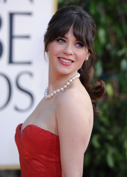 More Pics of Zooey Deschanel Strapless Dress (1 of 10) - Zooey Deschanel Lookbook - StyleBistro