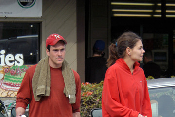 Katie Holmes Chris Klein Chris Klein and Katie Holmes at Barry's Bootcamp