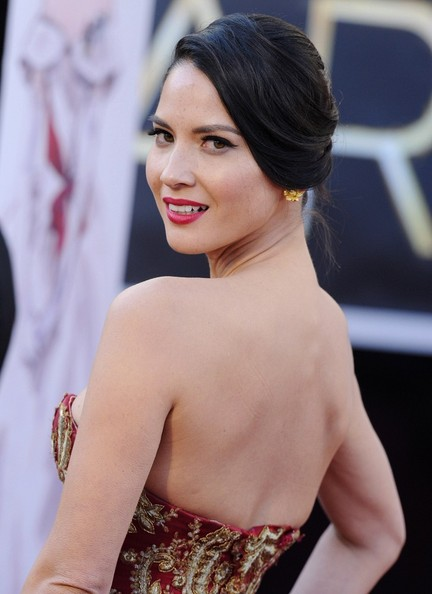 More Pics of Olivia Munn Twisted Bun (1 of 14) - Olivia Munn Lookbook - StyleBistro