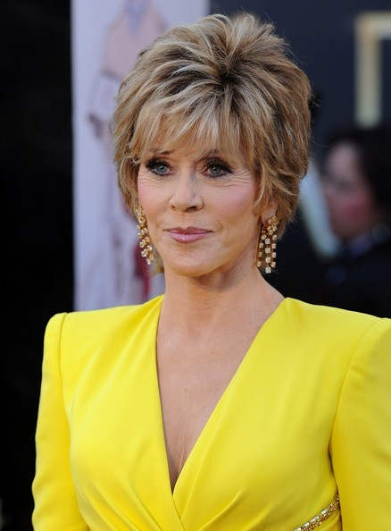 More Pics of Jane Fonda Layered Razor Cut (3 of 11) - Short Hairstyles Lookbook - StyleBistro