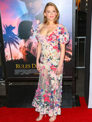 Haley Bennett was a sight to behold in a sheer, floral appliqued gown by Alexander McQueen at the AFI Fest premiere of 'Rules Don't Apply.'