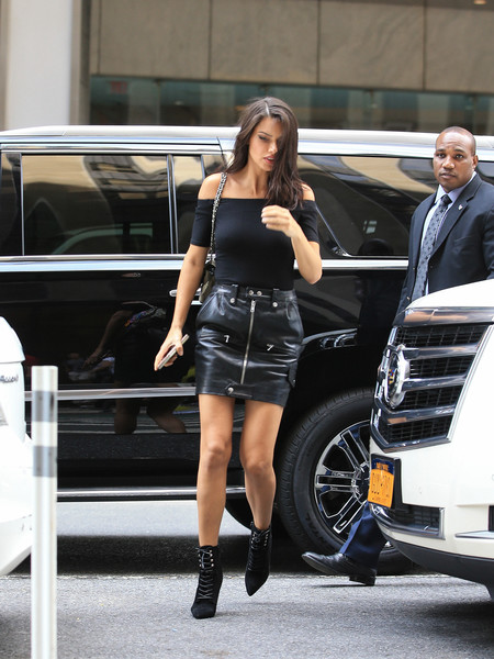 Adriana Lima Lace Up Boots