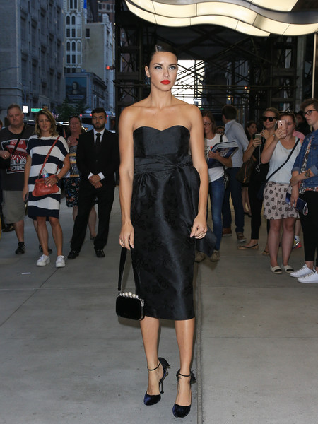 Adriana Lima Strapless Dress