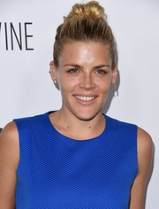 Busy Philipps pulled her hair back into a cute top knot for the premiere of 'Adult Beginners.'