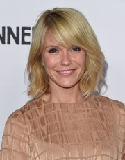 Katie Aselton wore a cute wavy style with side-swept bangs during the 'Adult Beginners' premiere.