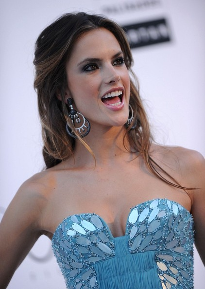 Alessandra Ambrosio Dangling Gemstone Earrings
