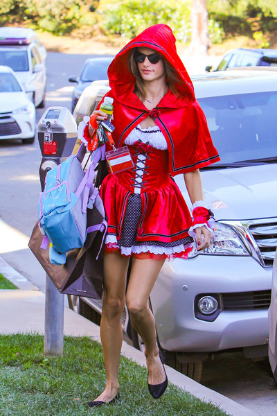 Alessandra Ambrosio as Little Red Riding Hood