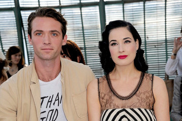 Dita Von Teese Louis-Marie de Castelbajac Alexis Mabille Show at Paris Fashion Week