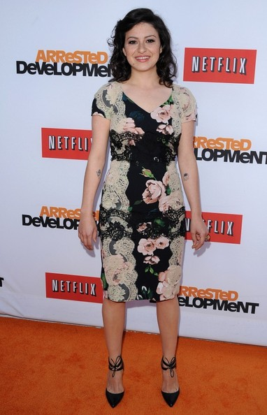 Alia Shawkat Print Dress