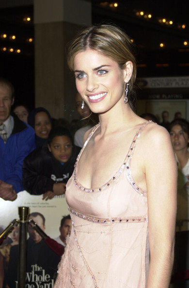 Amanda Peet Dangling Crystal Earrings