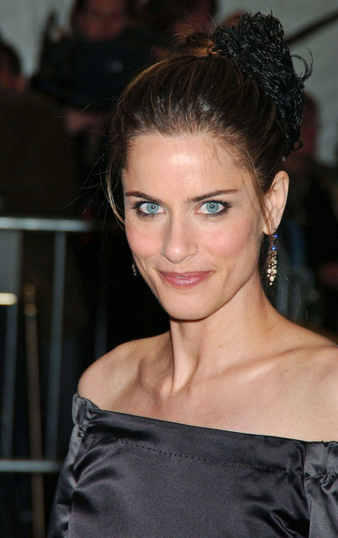 Amanda Peet Twisted Bun