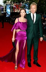 No doubt all eyes were on Rhys when he wore this green suit to 'The Amazing Spider-Man' premiere in London.
