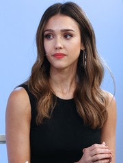 Jessica Alba looked pretty with her boho-glam waves at the America Made event.