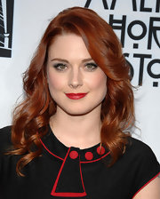 Alexandra Breckenridge swept her long bangs off to the side for a screening of 'American Horror Story.'