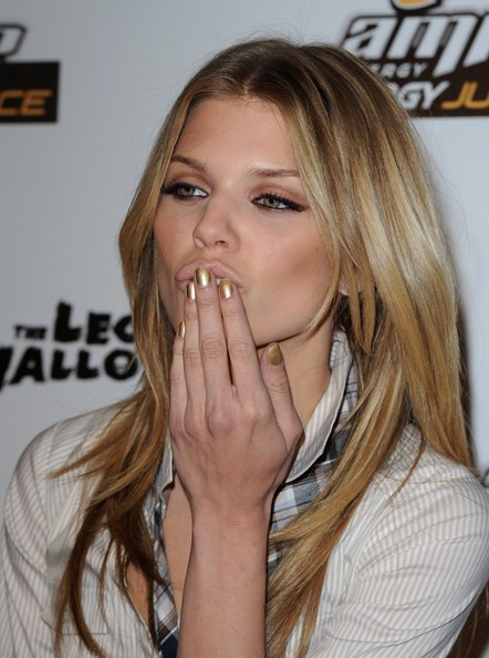 AnnaLynne McCord Metallic Nail Polish
