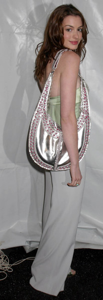 Anne Hathaway Metallic Shoulder Bag