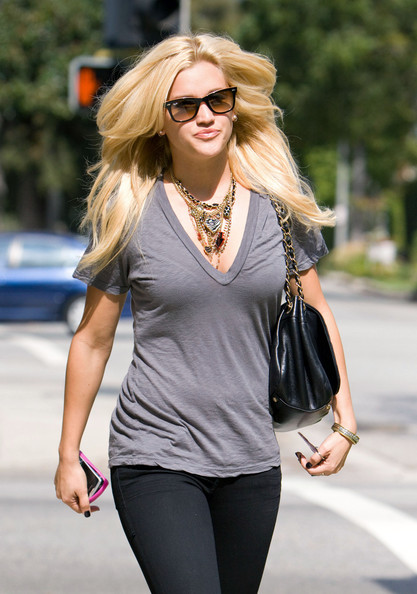 Ashley Roberts V-Neck Tee