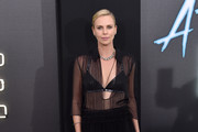 Charlize Theron Sheer Top