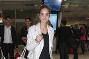 Barbara Palvin Cropped Jacket