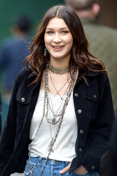 Bella Hadid Layered Sterling Necklace []