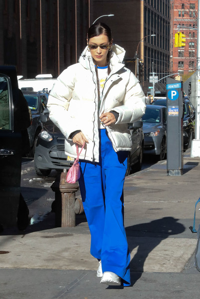 More Pics of Bella Hadid Leather Sneakers (5 of 5) - Athletic Shoes Lookbook - StyleBistro []