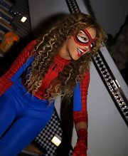 Beyonce's pretty curls looked glamorous even when she's dressed up in a Halloween costume.