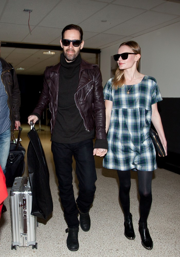 Kate Bosworth and Michael Polish arrive at LAX (Los Angeles International Airport).