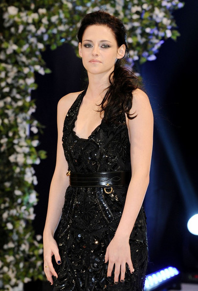 Kristen Stewart matched her dark ensemble with a rich aubergine shade of nail polish at the UK premiere of 'The Twilight Saga: Breaking Dawn - Part 1.'