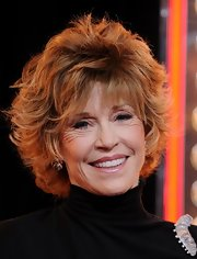 Jane Fonda was on hand at the 'Burlesque' premiere where she showed off her fluffy short haircut. She added major volume to the root of her bangs.