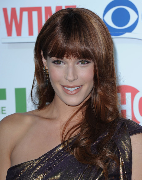 More Pics of Amanda Righetti Long Wavy Cut with Bangs (1 of 6) - Amanda Righetti Lookbook - StyleBistro
