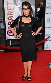 Jennifer Grey went for subtle sexiness with this sheer little black dress at the 'Cabaret' world premiere.